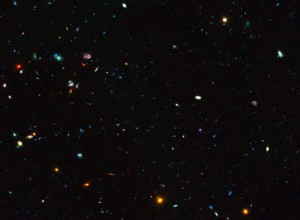 GOODS field containing distant dwarf galaxies forming stars at an incredible rate. Credit: NASA, ESA, the GOODS Team and M. Giavalisco (STScI/University of Massachusetts)