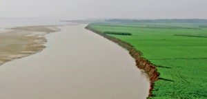 "Known as the ""cradle of Chinese civilization,"" the Yellow River was the birthplace of the prosperous northern Chinese civilizations in early Chinese history. However, the Yellow River is also referred to as ""China's Sorrow"" because of its frequent and devastating flooding. Credit: Image courtesy of the Journal of Archaeological and Anthropological Sciences"