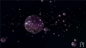 Screenshot from a video of Matthew Johnson explaining the related concepts of inflation, eternal inflation, and the multiverse (see http://youtu.be/w0uyR6JPkz4). Credit: Image courtesy of Perimeter Institute