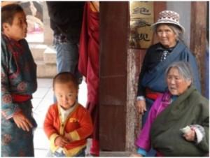 This image depicts Tibetan locals living at 4,300m. Credit: Tsewang Tashi, M.D.